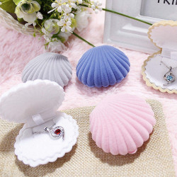 Sweet Shell Velvet Jewelry Storage Box