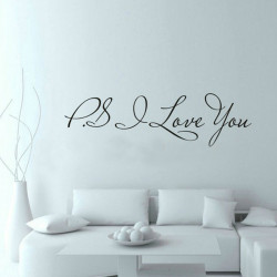 Wall Sticker - Ps I Love You
