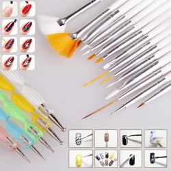 Nail Art Set 20pcs for Acrylic and Gel Nails