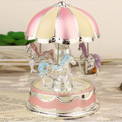 Carousel Music Box with Flash Light