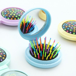 Mini Lady Cosmetic Mirror With Comb