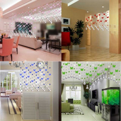 5 piece Fashion Glossy Crystal Glass Curtain Parts