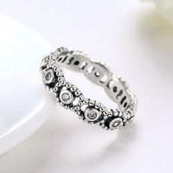 925 Sterling Silver Finger Ring with Cubic Zirconia