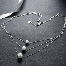 Pearl Pendant Necklace 925 Silver