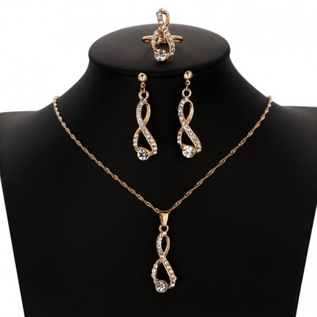 Three Parts Women's Fashion Jewelry Sets
