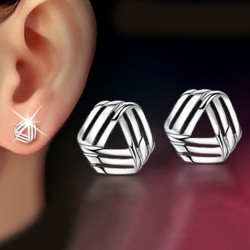 Fashion Creative 925 Silver Plated Earrings