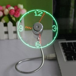 USB Mini Flexible LED Ventilator Uhr