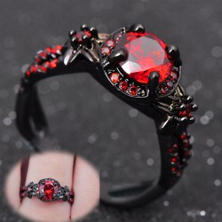 Roter Granat Damen Finger-Ring