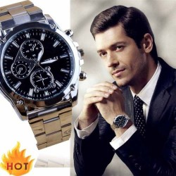 Men's Business Stainless Steel Wrist Watch