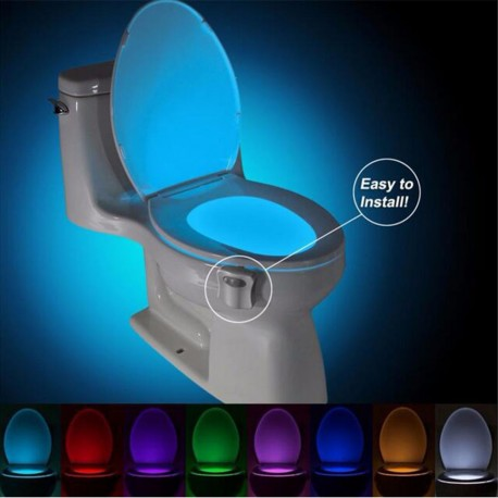 Toilet LED Night Light Human Motion Sensor