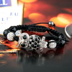 Ladies Braided Owl Bracelet