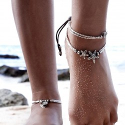 Foot and Bracelet with Starfish or Rune