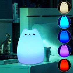 7 Color Cat LED Children Night Light
