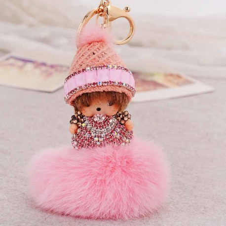 Monchhichi Plush Key Ring