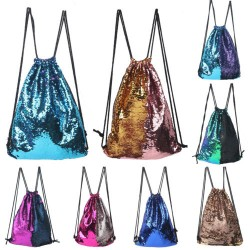 Drawstring Sequin Bag