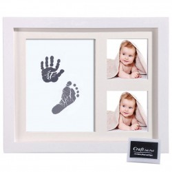 Baby Hand- Footprint Wood Photo Frame