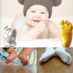 3D Baby Hand Footprint Plaster Casting Kit