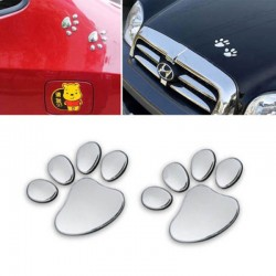 Dog paws Footprint 2x 3D Car Sticker