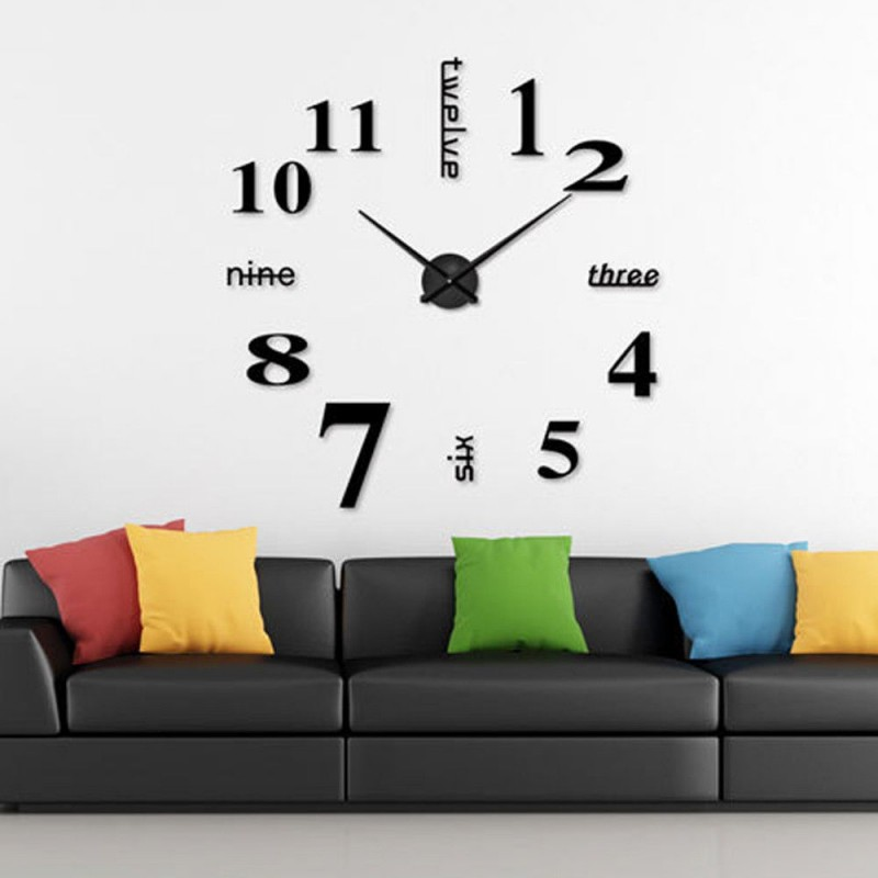 Fabulous D Big Digital D Acrylic Art Mirror Wall Clock Diy Wall Stick With  Groe Wanduhren.