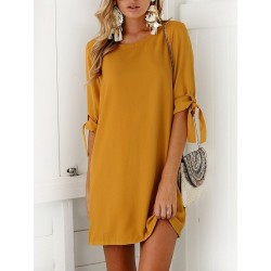 Yellow Shift Mini Dress