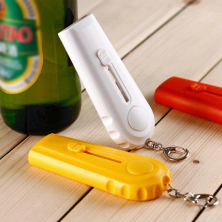 Flying Cap Beer Bottle Opener with Key Ring