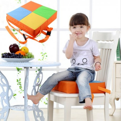 Chair Booster Seat Pad For Baby Toddler Kid Orange