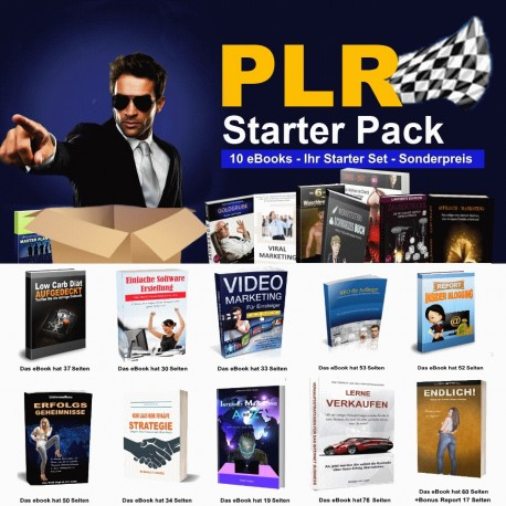 PLR STARTER PACK MIT 10 eBooks