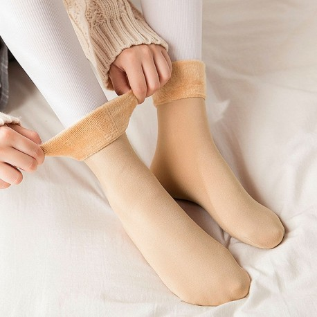 Fleece lined thermal socks