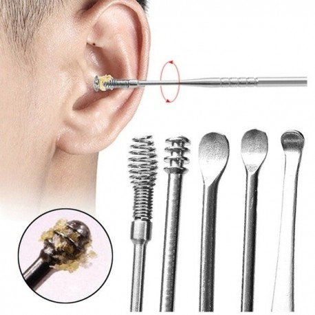 6 Piece Stainless Steel Earwax Remover Set