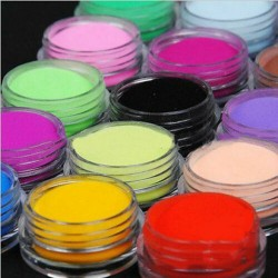 12 Colors Acrylic Manicure Nail Art Powder Dust Decoration