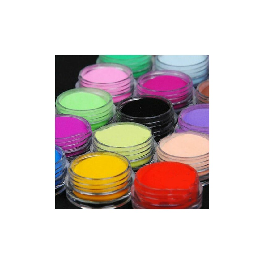 12 Colors Acrylic Manicure Nail Art Powder