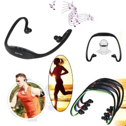 Stereo Sport Headset Headphone Earphone MP3 Player Micro SD TF Slot