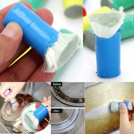 Stainless Steel Cleaning Brush Stick Metal Rust Remover