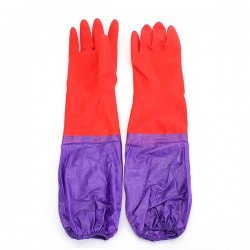 Wash Cleaning Long Sleeves Rubber Latex Cashmere Gloves