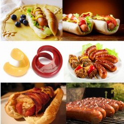 2Pcs Spiral Hot Dog Sausage Cutter Slicer