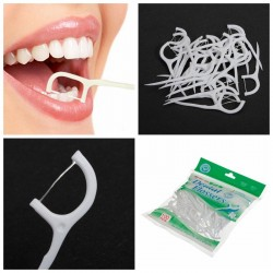 100 pcs 2 In1 Dental Flosser