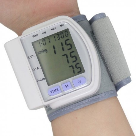 LCD Digital Blood Pressure Monitor Heart Beat Meter