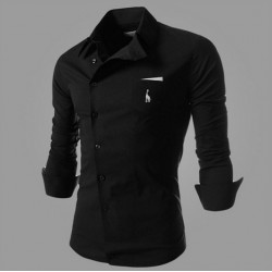 Men's Oblique Buckle Deer Shirt