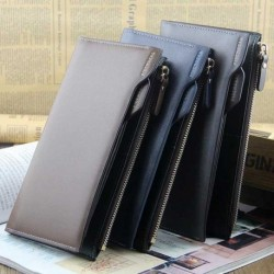 PIDENGBAO Cool Long Men PU Leather Wallet