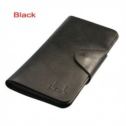 SHAISHI PU Leather Bi-fold Wallet Man Leather Wallet Long Purse Coin Bag Card Bags