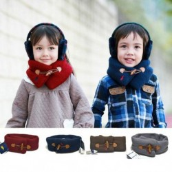 Winter Warm Collar Scarves With Button