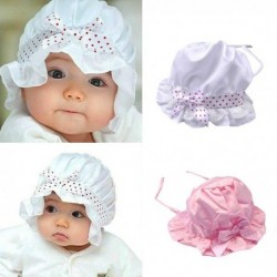 Lace Flower Satin Baby Sun Hat