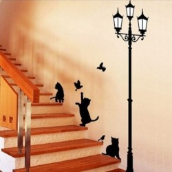 Lamp Cat Wall Stickers
