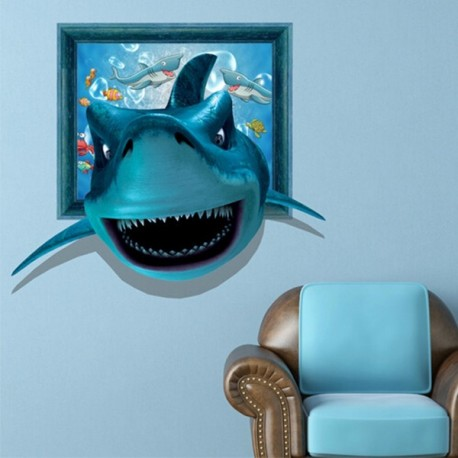Shark Wall Decals in 3D