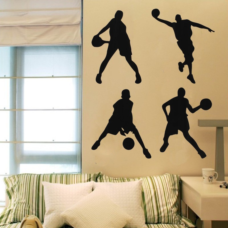 Basketball wall stickers 23x60cm - LAZAARA
