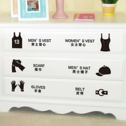 Cabinet Removable Sticker Decal Wall Art