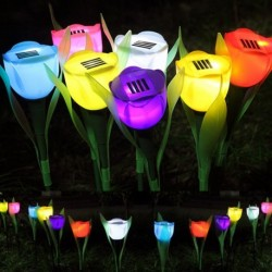 Solar Power LED Tulip Flower Lamp