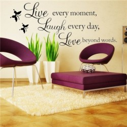 Butterfly Wall Stickers With Quote