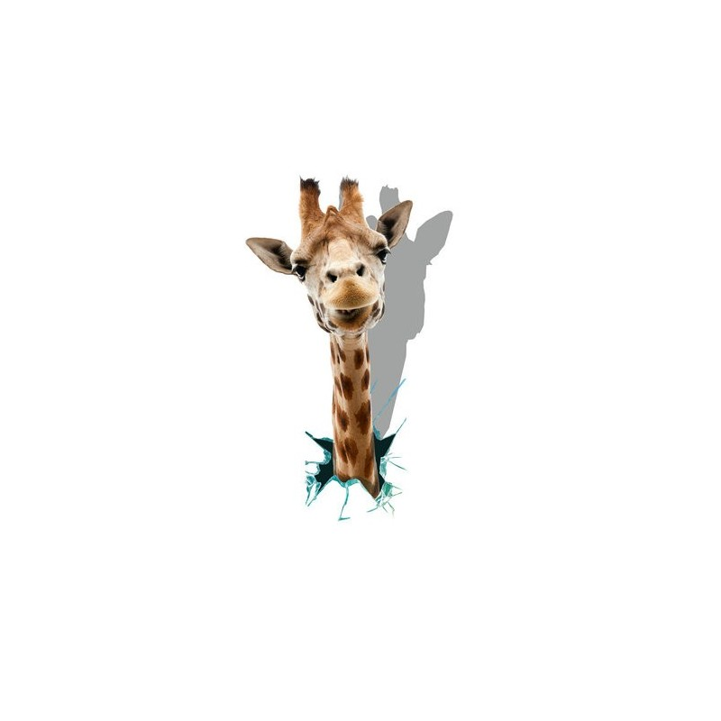 giraffe 3d wall decals animal pag sticker removable wall hole