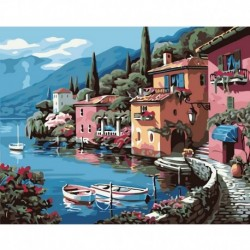 Wall Decor Digital Oil Painting Lakeside By Numbers